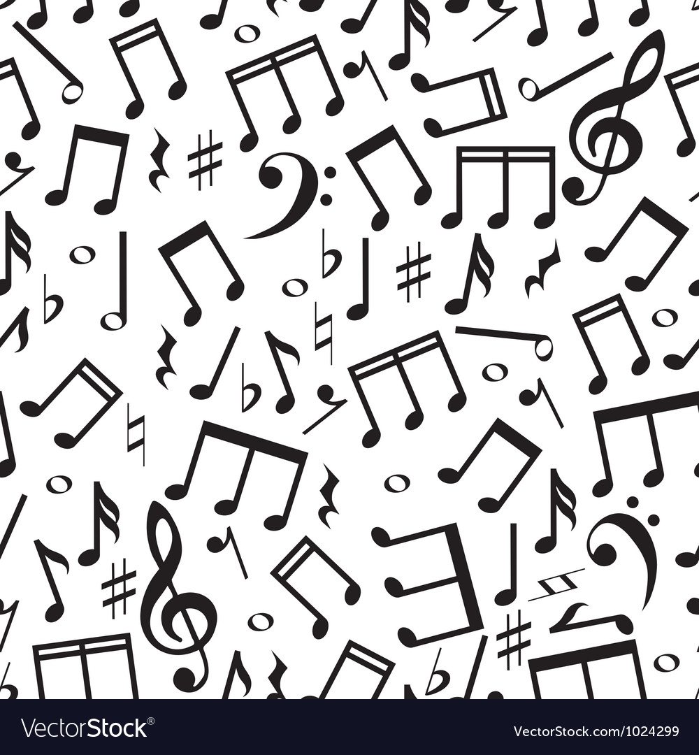 Seamless pattern with a music notes vector | Price: 1 Credit (USD $1)