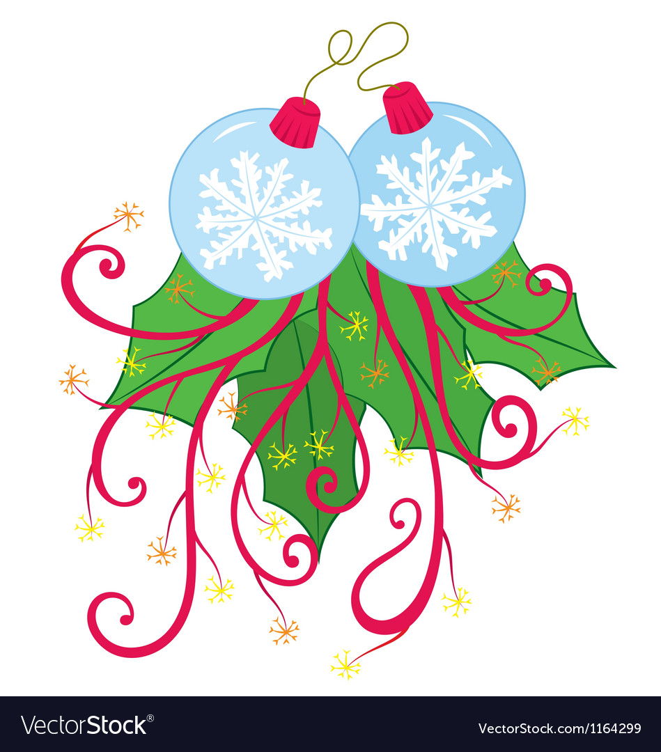 Snow flake xmas ornament vector | Price: 1 Credit (USD $1)