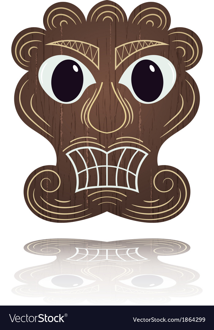 Traditional hawaiian mask vector | Price: 1 Credit (USD $1)