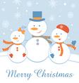 Snowmen family vector