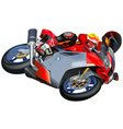 Motorcycle racing vector
