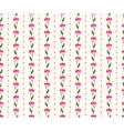 Seamless floral pattern with pink flowers vector