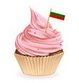 Bulgarian cupcake vector