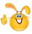Bunny emoticon vector