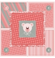 Cute quilt background vector