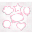 Collection of pink tags vector
