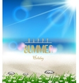 Beach summer background with grass vector