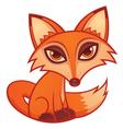 Cartoon red fox vector