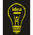 Bright idea light bulb vector
