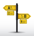 Modern road sign design template vector