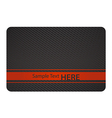 Black business card with texture and red label vector
