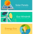 Eco-friendly energy flat design concepts banners vector