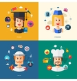 Flat design business with people professions vector