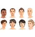 Male portraits vector