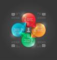 Modern infographics circle diagram vector
