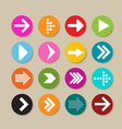 Collection of arrow labels and icons vector