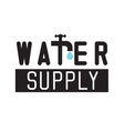 Water icon with tap faucet and drop vector