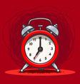Ringing vintage alarm clock vector