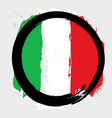 Italian circle flag vector