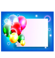 Balloons decoration for you design with blank sign vector