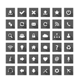 Grey square long shadow style icons vector