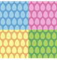 Easter egg seamless pattern and background set vector