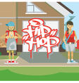 Hip hop people vector