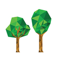 Collection of 2 different origami trees vector