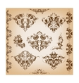 Set of vintage pattern vector
