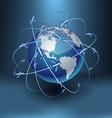 Transportation earth - america vector