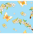 Seamless pattern with spring theme vector