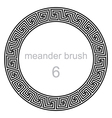 Pattern round ornament meander vector