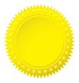 Wax gold seal vector