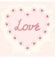 Valentine day card template vector