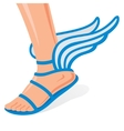 Winged shoes vector