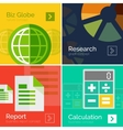 Set of flat design business concepts banners vector