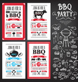Barbecue party invitation bbq template menu design vector