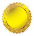 Wax golden seal vector