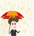 Businessman and money rain vector