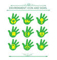 Eco design elements isolated with hand vector
