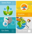 Set of eco nature flat design concepts banners vector