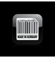 Germany barcode icon vector
