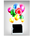 Balloons decoration for you design with film frame vector