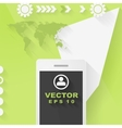 Abstract concept flat tech design with mobile vector