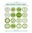 Green organic and bio labels vector