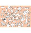 Summer fun hand drawn doodles sketch vector