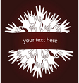Human hands invitation vector