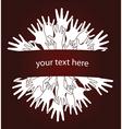 Human hands invitation vector