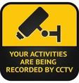 Cctv surveillance sign vector