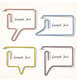 Bubbles speech made of paper clip vector
